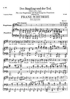 Der Jüngling und der Tod, D.545: Zweite Fassung by Franz Schubert