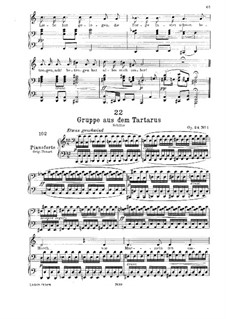 Gruppe aus dem Tartarus, D.583 Op.24 No.1: Klavierauszug mit Singstimmen by Franz Schubert
