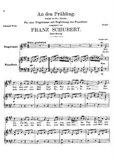 An den Frühling, D.587: Zweite Fassung by Franz Schubert