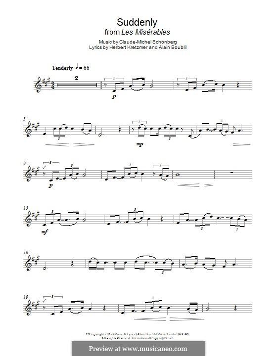 Suddenly: Für Klarinette by Claude-Michel Schönberg