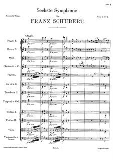 Sinfonie Nr.6 in C-Dur, D.589: Teil I by Franz Schubert