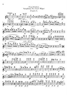 Sinfonie Nr.6 in C-Dur, D.589: Flötenstimme by Franz Schubert