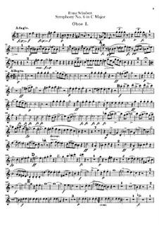 Sinfonie Nr.6 in C-Dur, D.589: Oboenstimmen by Franz Schubert