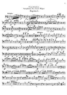 Sinfonie Nr.6 in C-Dur, D.589: Fagottstimme by Franz Schubert