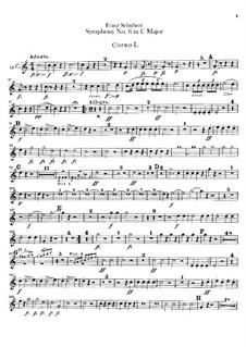 Sinfonie Nr.6 in C-Dur, D.589: Hörnerstimmen by Franz Schubert