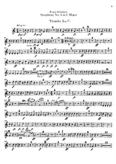 Sinfonie Nr.6 in C-Dur, D.589: Trompetenstimmen by Franz Schubert