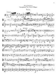 Sinfonie Nr.6 in C-Dur, D.589: Violastimme by Franz Schubert