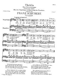 Thekla. Eine Geisterstimme, D.595 Op.88 No.2: Erste Fassung by Franz Schubert