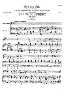 Sehnsucht, D.636 Op.39: Zweite Fassung by Franz Schubert