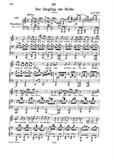 Der Jüngling am Bache, D.638 Op.87 No.3: Klavierauszug mit Singstimmen by Franz Schubert