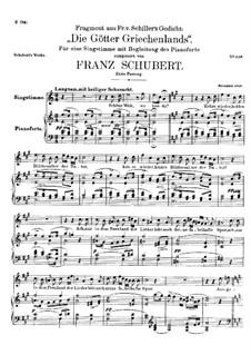 Die Götter Griechenlands, D.677: Erste Fassung by Franz Schubert