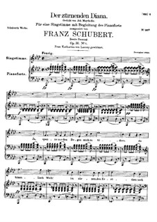 Der zürnenden Diana, D.707 Op.36 No.1: Zweite Fassung by Franz Schubert