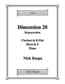 Dimension 20, Regeneration: Partitur by Nick Raspa