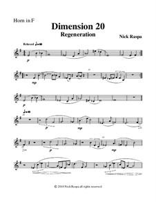 Dimension 20, Regeneration: Horn in F part by Nick Raspa
