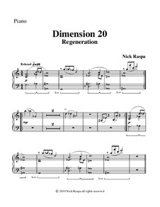 Dimension 20, Regeneration: Klavierstimme by Nick Raspa