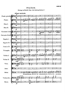 Arie und Duett zu Oper 'Das Zauberglöckchen' von Hérold, D.723: Nr.2 Duett by Franz Schubert