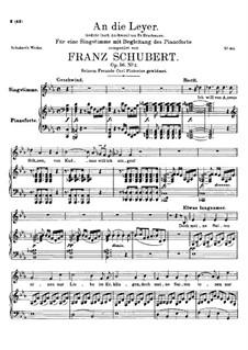 An die Leier, D.737 Op.56 No.2: Für hohe Stimme und Klavier by Franz Schubert