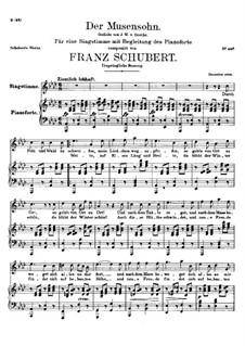 Der Musensohn, D.764 Op.92 No.1: Erste Fassung by Franz Schubert