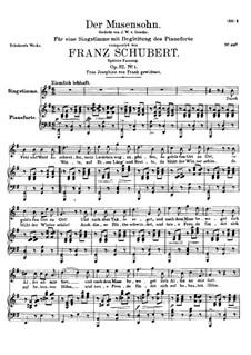 Der Musensohn, D.764 Op.92 No.1: Zweite Fassung by Franz Schubert