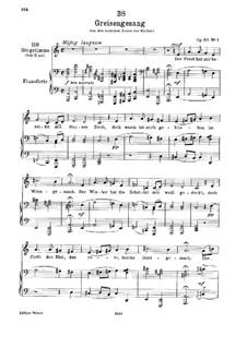Greisengesang, D.778 Op.60 No.1: Für tiefe Stimme und Klavier by Franz Schubert