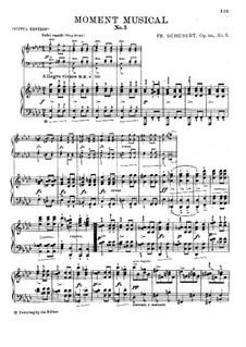 Sechs musikalische Momente, D.780 Op.94: Musikalische Momente Nr.5-6 by Franz Schubert