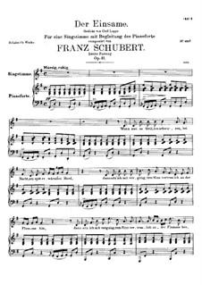 Der Einsame, D.800 Op.41: Zweite Fassung by Franz Schubert