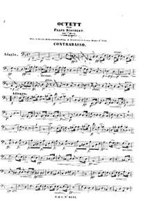 Oktett für Streicher und Bläser in F-Dur, D.803 Op.166: Kontrabass-Stimme by Franz Schubert