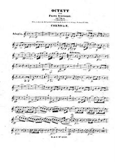 Oktett für Streicher und Bläser in F-Dur, D.803 Op.166: Hornstimme by Franz Schubert