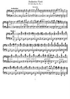 Divertissement über französische Themen, D.823: Nr.2 Andantino und Variationen, Op.84 by Franz Schubert