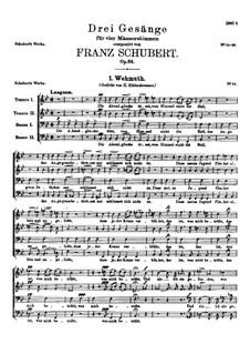 Drei Lieder, D.825 Op.64: Nr.1 Wehmut by Franz Schubert
