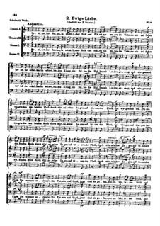 Drei Lieder, D.825 Op.64: Nr.2 Ewige Liebe by Franz Schubert