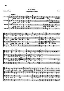 Drei Lieder, D.825 Op.64: Nr.3 Flucht by Franz Schubert