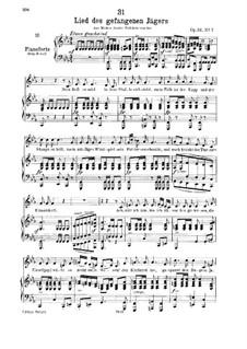 Lied des gefangenen Jägers, D.843 Op.52 No.7: Für tiefe Stimme und Klavier by Franz Schubert