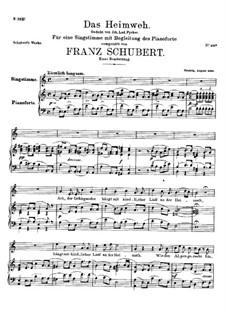 Das Heimweh, D.851 Op.79 No.1: Erste Fassung by Franz Schubert