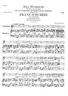 Das Heimweh, D.851 Op.79 No.1: Zweite Fassung by Franz Schubert