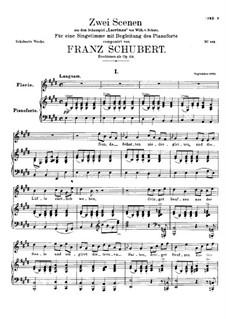 Zwei Szenen aus 'Lacrimas' von Schütz, D.857 Op.124: Nr.1 Florio by Franz Schubert