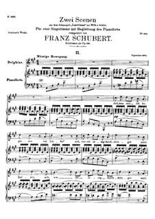Zwei Szenen aus 'Lacrimas' von Schütz, D.857 Op.124: Nr.2 Delphine by Franz Schubert