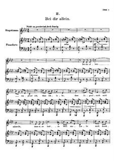 Vier Refrain-Lieder, D.866 Op.95: Nr.2 Bei dir allein by Franz Schubert