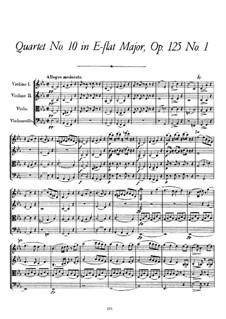 Streichquartett Nr.10 in Es-Dur, D.87 Op.125 No.1: Partitur by Franz Schubert