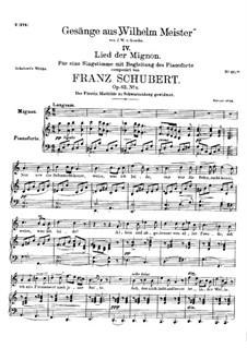 Nr.4 Lied der Mignon: A-moll by Franz Schubert