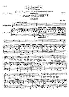 Fischerweise, D.881 Op.96 No.4: Erste Fassung by Franz Schubert