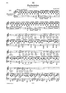 Fischerweise, D.881 Op.96 No.4: Klavierauszug mit Singstimmen by Franz Schubert