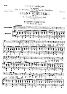 Drei Lieder, D.902 Op.83: Nr.3 Die Macht der Augen by Franz Schubert