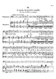 Drei Lieder, D.902 Op.83: Nr.1 Die Art ein Weib zu nehmen by Franz Schubert