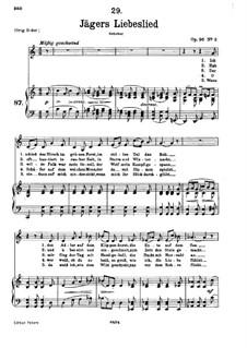 Jägers Liebeslied, D.909 Op.96 No.2: Für tiefe Stimme und Klavier by Franz Schubert