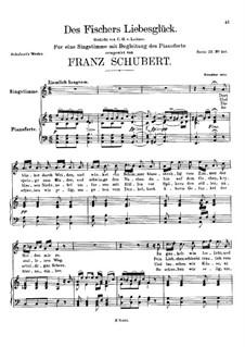 Des Fischers Liebesglück, D.933: Für hohe Stimme und Klavier by Franz Schubert