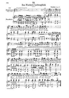 Des Fischers Liebesglück, D.933: Für tiefe Stimme und Klavier by Franz Schubert