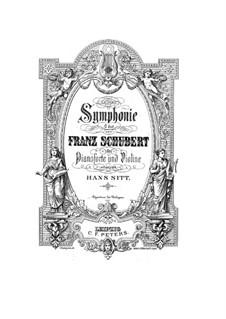 Sinfonie Nr.9 in C-Dur 'Die Grosse', D.944: Bearbeitung für Violine und Klavier by Franz Schubert