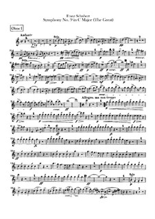 Sinfonie Nr.9 in C-Dur 'Die Grosse', D.944: Oboenstimmen by Franz Schubert