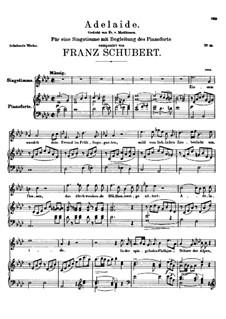 Adelaide, D.95: Für Stimme und Klavier (A Flat Major) by Franz Schubert